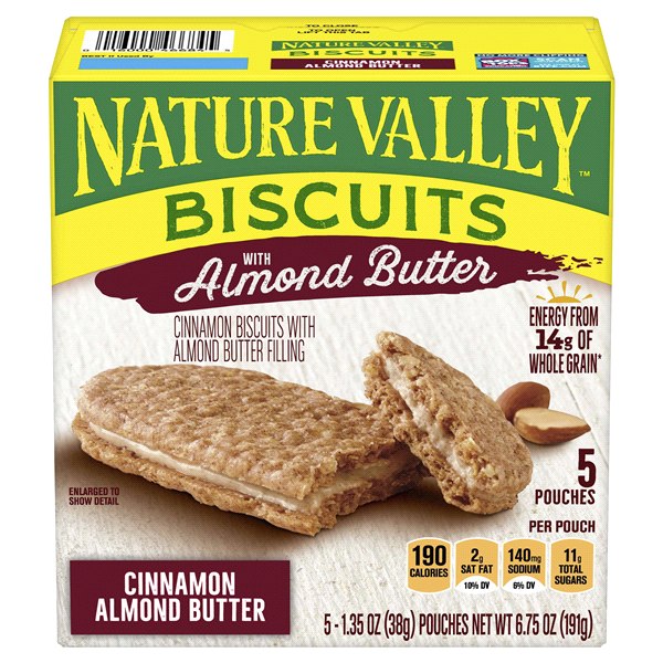 NATURE VALLEY BISCUITS W ALMOND BUTTER 5 CT 6.75 OZ