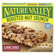 NATURE VALLEY ROASTED ALMOND CRUNCH GLUTEN FREE 6 CT 12 PK***SHIP TO ORDER BY NOON ON MONDAY'S ARRIVING THE FOLLOWING MONDAY FOR DELIVERY***