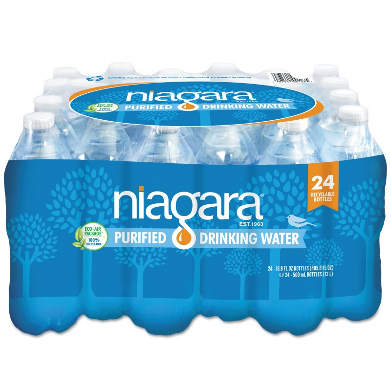 NIAGARA PURIFIED DRINKING WATER 16 OZ 24 PACK