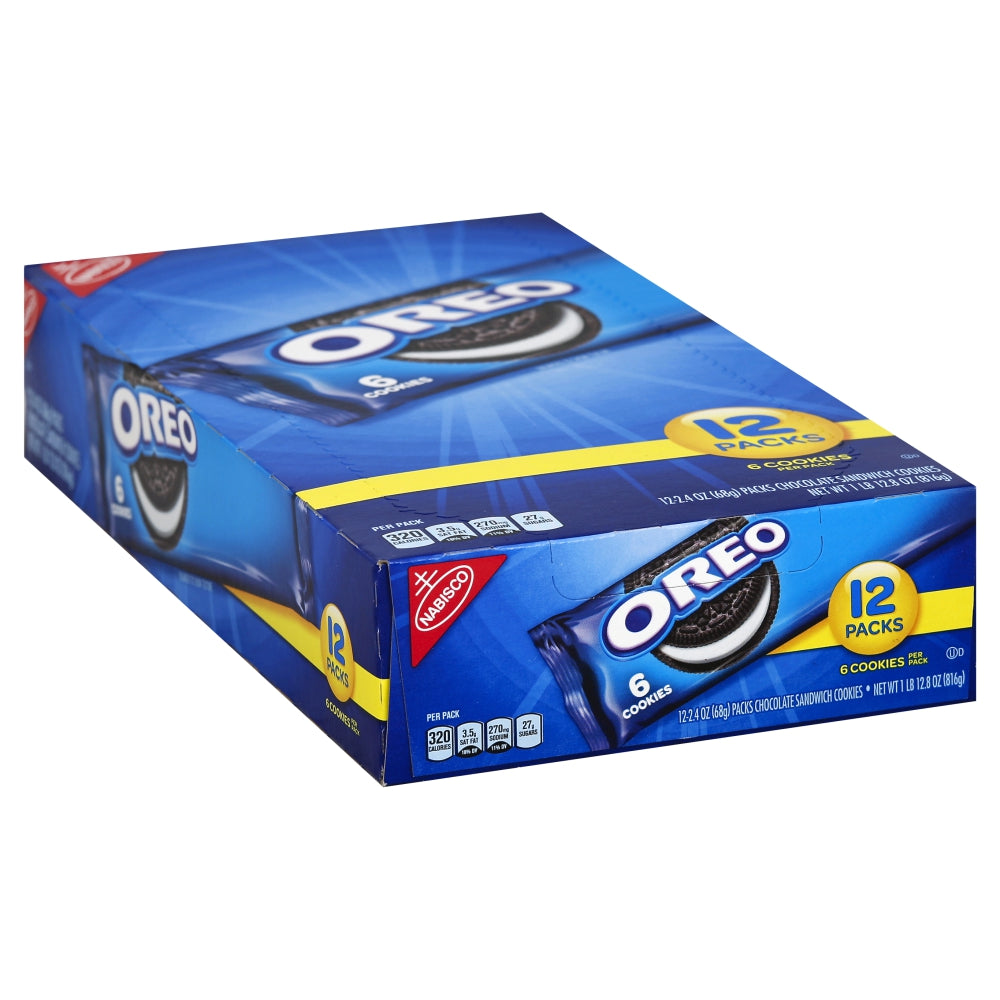 Nabisco Oreo Cookies, 2.4 Oz, 12 Ct 6 Pack