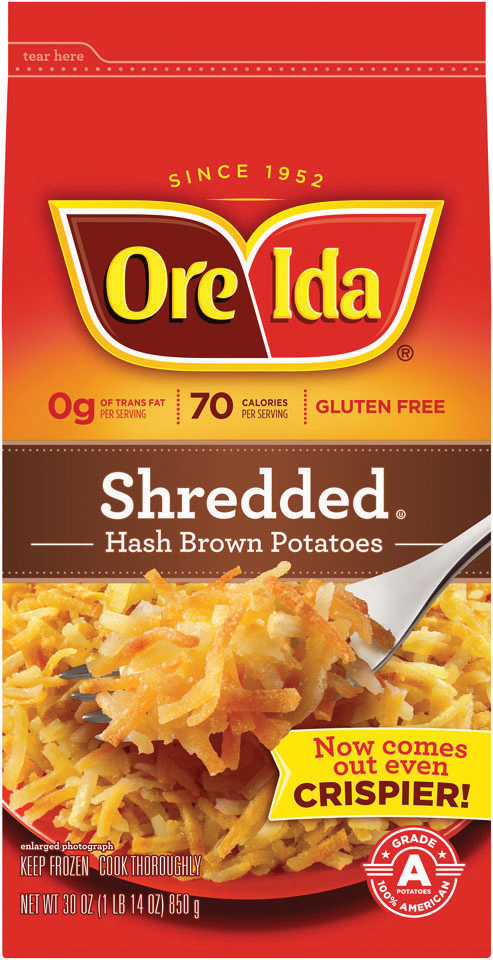 ORE-IDA COUNTRY STYLE HASH BROWN       ***SHIP TO ORDER BY NOON FRIDAY NOV 13th. ARRIVES FOR DELIVERY MON NOVEMBER 23rd***