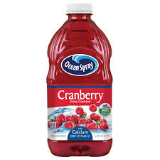 OCEAN SPRAY CRANBERRY JUICE COCKTAIL WITH  CALCIUM  64 OZ