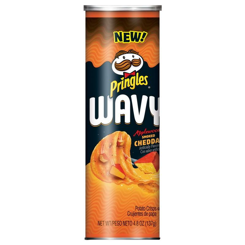 PRINGLES WAVY APPLEWOOD SMOKE CHEDDAR 4.8 OZ 8 PK***SHIP TO ORDER BY NOON ON MONDAY'S ARRIVING THE FOLLOWING MONDAY FOR DELIVERY***