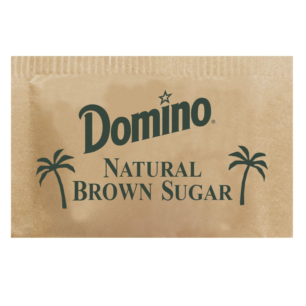 Packer Label Natural Raw Sugar, Brown, Packets, 1000 ct