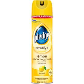 Pledge Furniture Spray, Lemon Clean 9.7 Oz