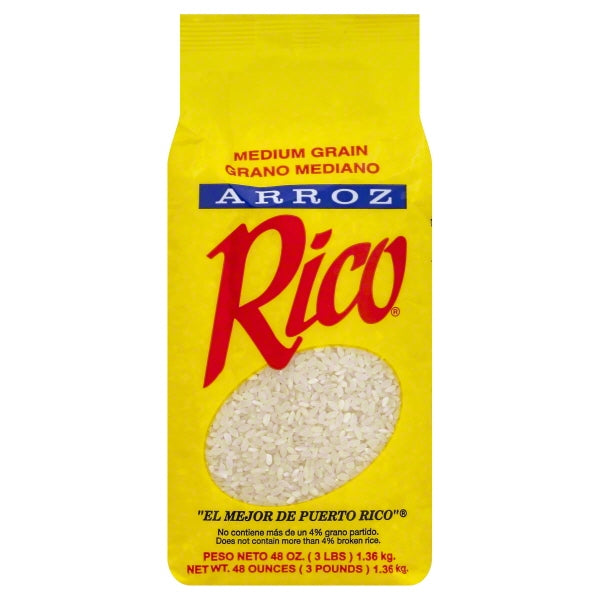 RICO RICE MEDIUM GRAIN 3 LB