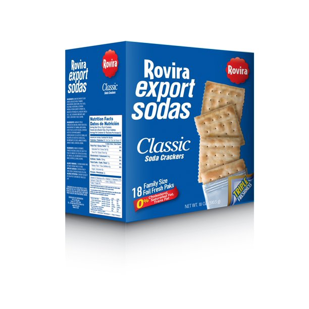 ROVIRA EXPORT SODAS CLASSIC CRACKERS 18 OZ