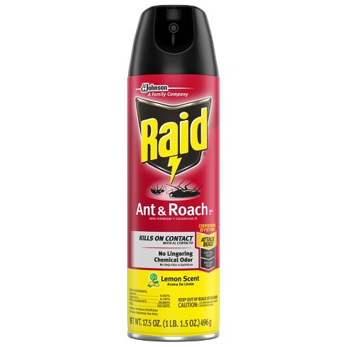 Raid Ant and Roach Spray Lemon Scent 17.5 oz