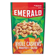 EMERALD WHOLE ROASTED CASHEWS 5 0Z POUCH
