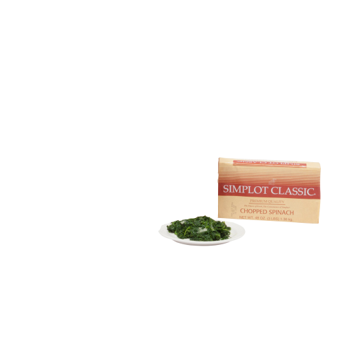 SIMPLOT CHOPPED SPINACH CLASSIC WET PACK 3 LB
