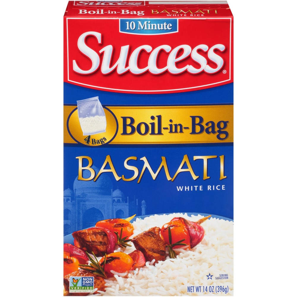Success 10 Minute Boil-in-bag Basmati White Rice 14 oz