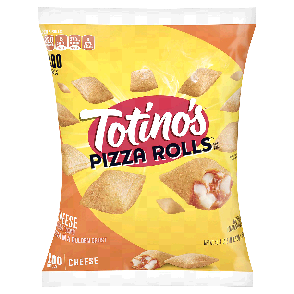 TOTINOS PIZZA ROLLS CHEESE 100 CT 48.85 OZ***SHIP TO ORDER BY NOON FRIDAY NOV 13th. ARRIVES FOR DELIVERY MON NOVEMBER 23rd***
