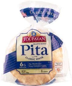 TOUFAYAN PLAIN WHITE PITA 12 OZ