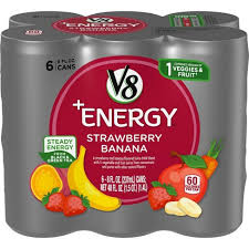 V8 ENERGY STRAWBERRY BANANA 8 OZ 6 PACK 4 COUNT***SHIP TO ORDER BY NOON ON MONDAY'S ARRIVING THE FOLLOWING MONDAY FOR DELIVERY***