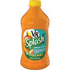 V8 SPLASH MANGO PEACH 64 OZ 6 COUNT***SHIP TO ORDER BY NOON ON MONDAY'S ARRIVING THE FOLLOWING MONDAY FOR DELIVERY***
