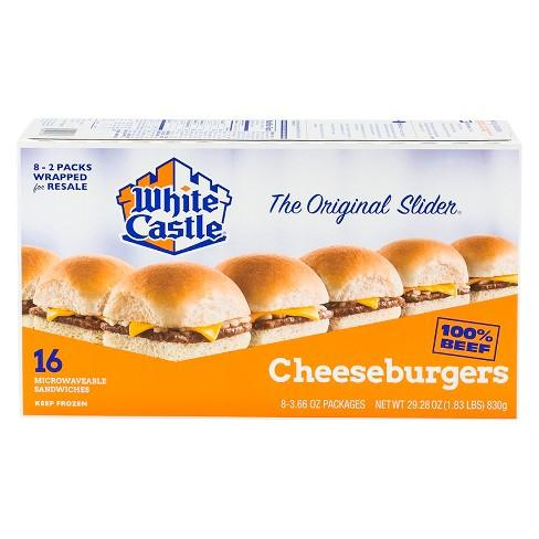 WHITE CASTLE CHEESEBURGER SLIDERS 16 CT 29.28 OZ***SHIP TO ORDER BY NOON FRIDAY NOV 13th. ARRIVES FOR DELIVERY MON NOVEMBER 23rd***