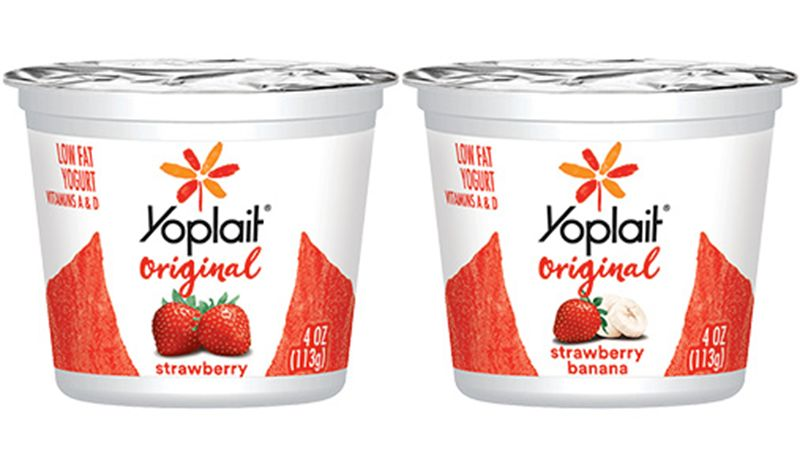 YOPLAIT ORIGINAL YOGURT STRAWBERRY & STRAWBERRY BANANA 4 OZ PACK