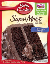 Betty Crocker Supermoist Cake Mix, Chocolate Fudge, 15.25-Ounce