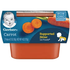 GERBER 1ST FOODS CARROT  4OZ  8 COUNT #ROCK VALUE PRODUCT ORDER BY SUNDAY EVENINGS ARRIVING NEXT WEEK'S TUESDAY FOR DELIVERY#