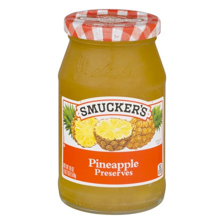 SMUCKER'S PINEAPPLE PRESERVES 18 OZ