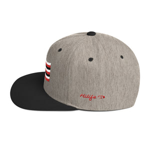 HiLife Hat Snapback Flag Red