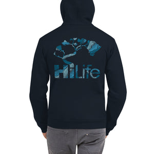 HiLife Zip Hoodie Basic Leaves