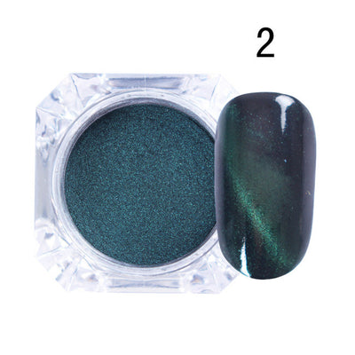3D Chrome Finish Nail Powder - Magic Mirror UV Shimmer- 6 Amazing Colors