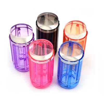 Transparent Stamp Nail Art Stamper - 9 Colors - Check Here For Additional Stamp Heads