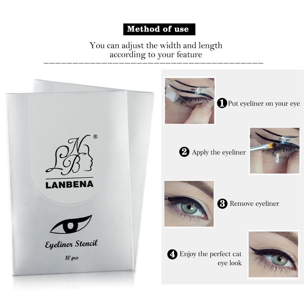 2 Pcs Cats Eyes Eyeliner Stencil - 2 Sided - Reusable Template ...