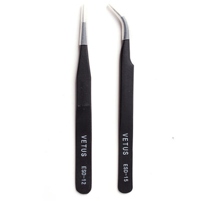 2 Pcs Black Acrylic Gel Nail Art Rhinestones Picking Tool