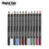 Magical Halo Multi Color Waterproof Eyeline Pencil Set - 12pcs/set