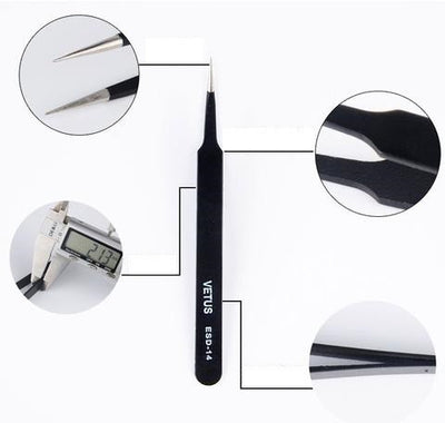 Anti Static False Eyelash Tweezers - 6 styles