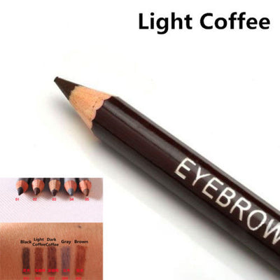 Leopard Eyebrow Waterproof Pencil With Brush - 2 PCS