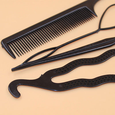 4 Pcs Hair Styling Tool Set