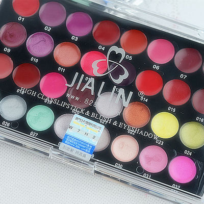 32 Color Tinted Lipstick Lip Gloss Makeup Palette