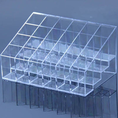 Makeup Organizer - 24 Clear Lattices Lipstick Or Nail Polish Stand