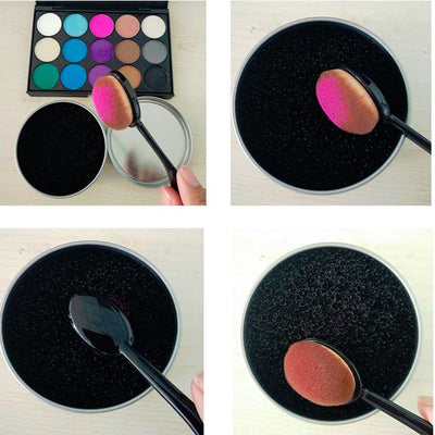 3 Second Color Off Makeup Brush Cleaner Sponge - Removes All Color From Brush