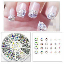 300 Pcs - 5 Sizes Nail Art Glitter Rhinestones