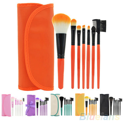 Makeup Brush Set - 7Pcs - Powder / Blush / Eyeshadow / Eyebrow / Lip Brush Kit
