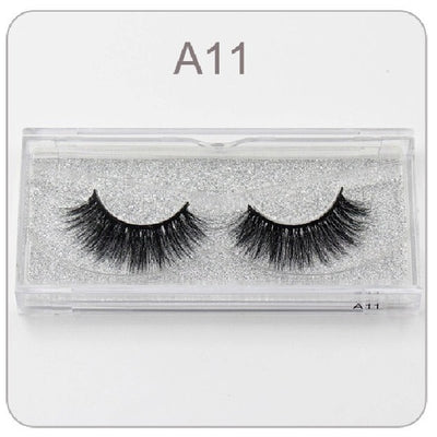 Mink 3D Hand Made Full Strip False Eyelashes - A10 to A19