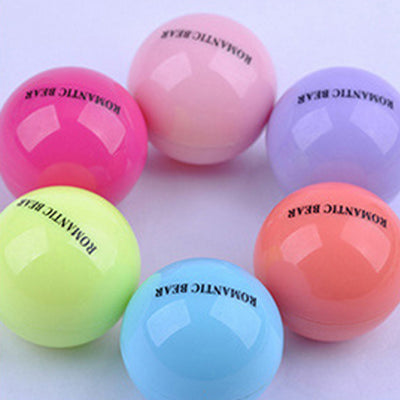 Romantic Bear Ball Lip Balm - Choose From 6 Colors / Scents - 1pcs