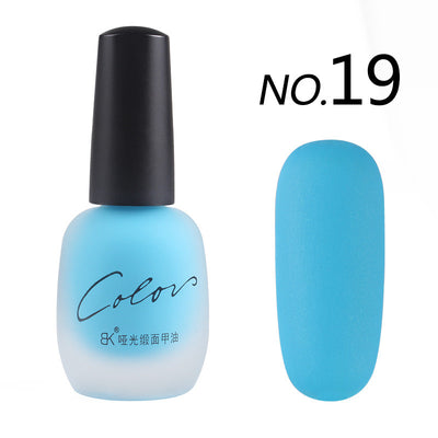 Satin Frosted Quick Dry Matte Long Lasting Nail Polish - 20 Colors