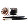 Quick Dry Gel Eyeliner Set - Brown + Black Color - 2pcs With Brushes