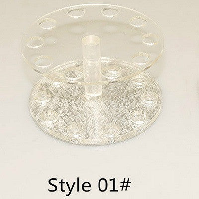 12 Holes Acrylic Gel Nail Art Or Makeup Brush Holder - Heart Or Round Shapes