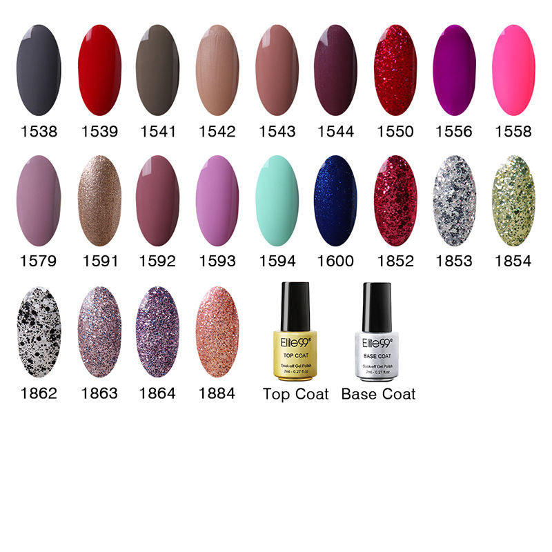 Elite99 - Gel Color Nail Polish - 58 Colors (including glitter ...