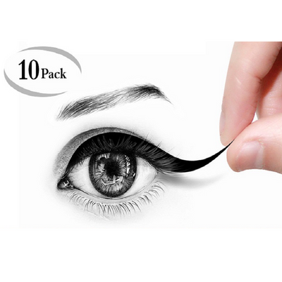 10 Pack Disposable Eyeliner Stickers -  Cats Eye Style - 160pcs