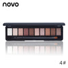 NOVO Eye Makeup Palette  - 10 Natural Colors Eye Shadow With Brush 1PC
