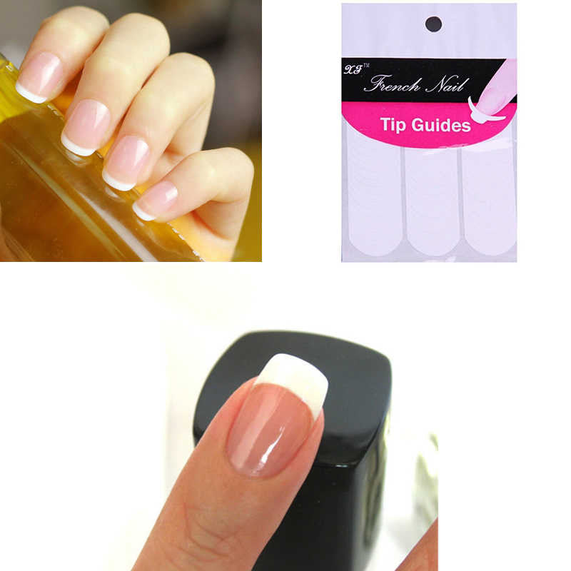48 Sticker Set - DIY French Manicure Nail Art Guides - Click Buy Beauty