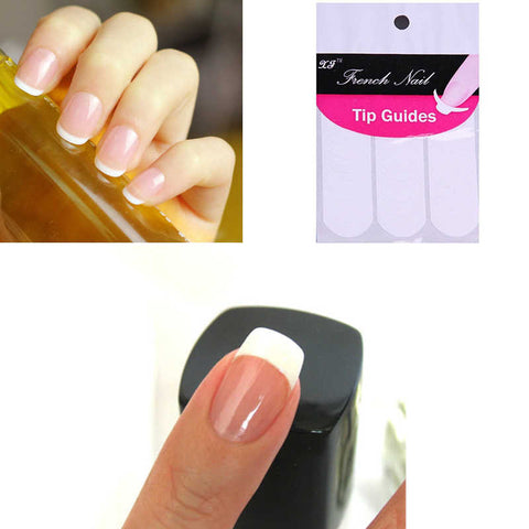 48 sticker set diy french manicure nail art guides click buy 48 sticker set diy french manicure nail art guides prinsesfo Choice Image