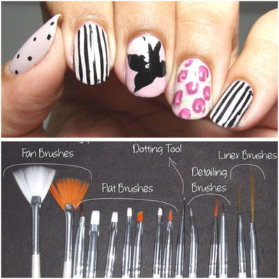 15 Pcs Acrylic Nail Art Brush Set